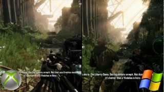 Crysis 3 Graphics Comparison | PC Maxed Settings vs Xbox 360 | 1080p HD | Versus