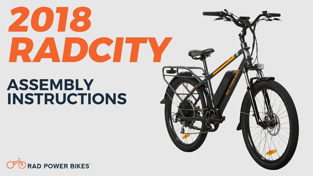2018 Radcity 16 19 Assembly And Operation Youtube