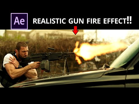 Create GUN FIRE Effect in your Video | After Effects Tutorial