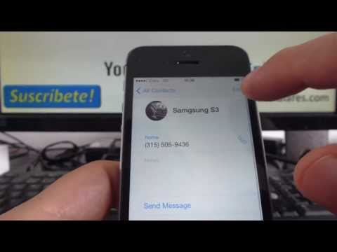 In this tutorial you will learn how to delete all contacts on your iPhone running on iOS 7 at once. .