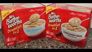 Mrs. Butterworth's Breakfast for 1 Pancake Mix: Buttermilk & Cinnamon Roll Review