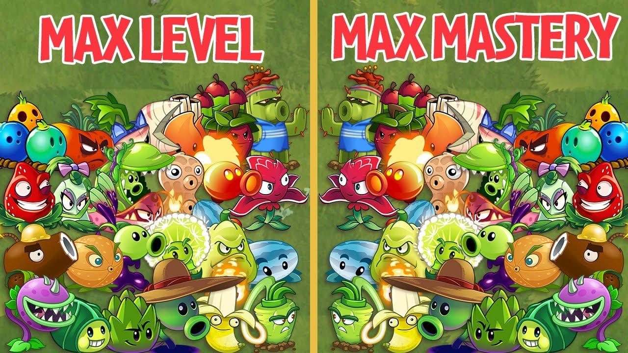 PvZ 2 Every Plant Max Level Vs Max Mastery Vs ZCorp Contractor Buckethead