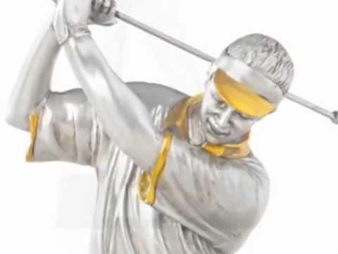 Resin golf figure award supplier GX004