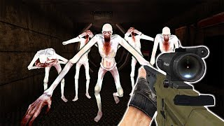 ATTACKED BY A HUGE SCP-096 ARMY!  - SCP Survival in Garry's Mod Gameplay - Gmod SCP Survival