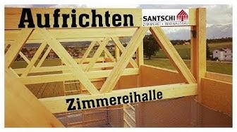 Erweiterung Werkhalle Santschi Holzbau (Zeitraffer/time lapse)