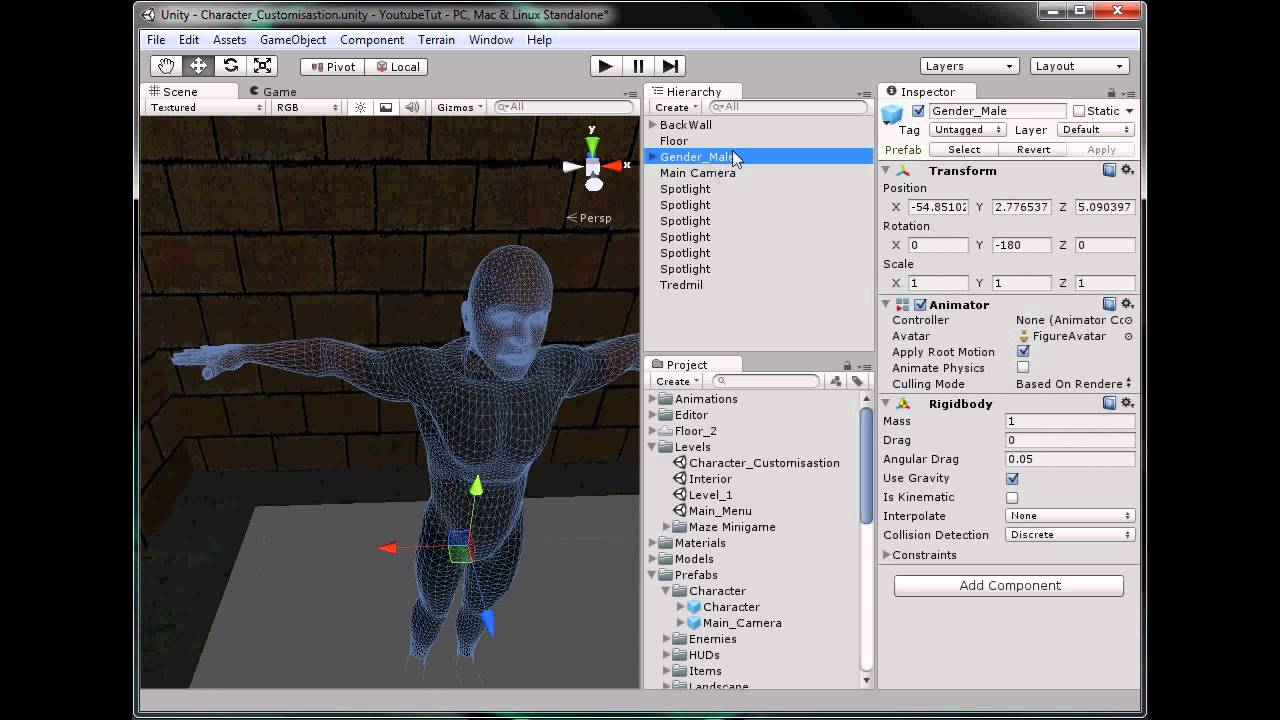 Character Design Unity : Unity d tutorial part character creation youtube