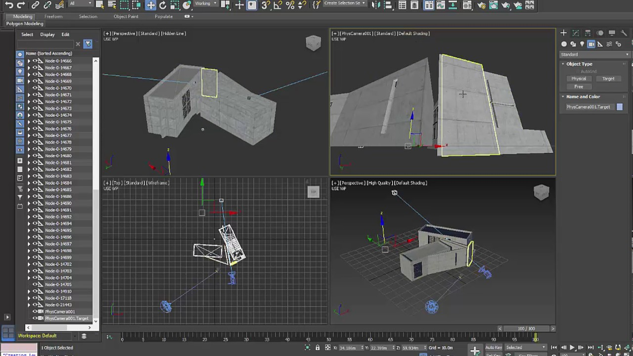 how to set up a physical camera in 3ds max 2017