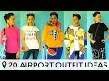 ✈️ 20 AIRPORT TRAVEL OUTFIT IDEAS WITH SNEAKERS | COLORFUL FASHION | SCHIPHOL AIRPORT TRENDS ✈️