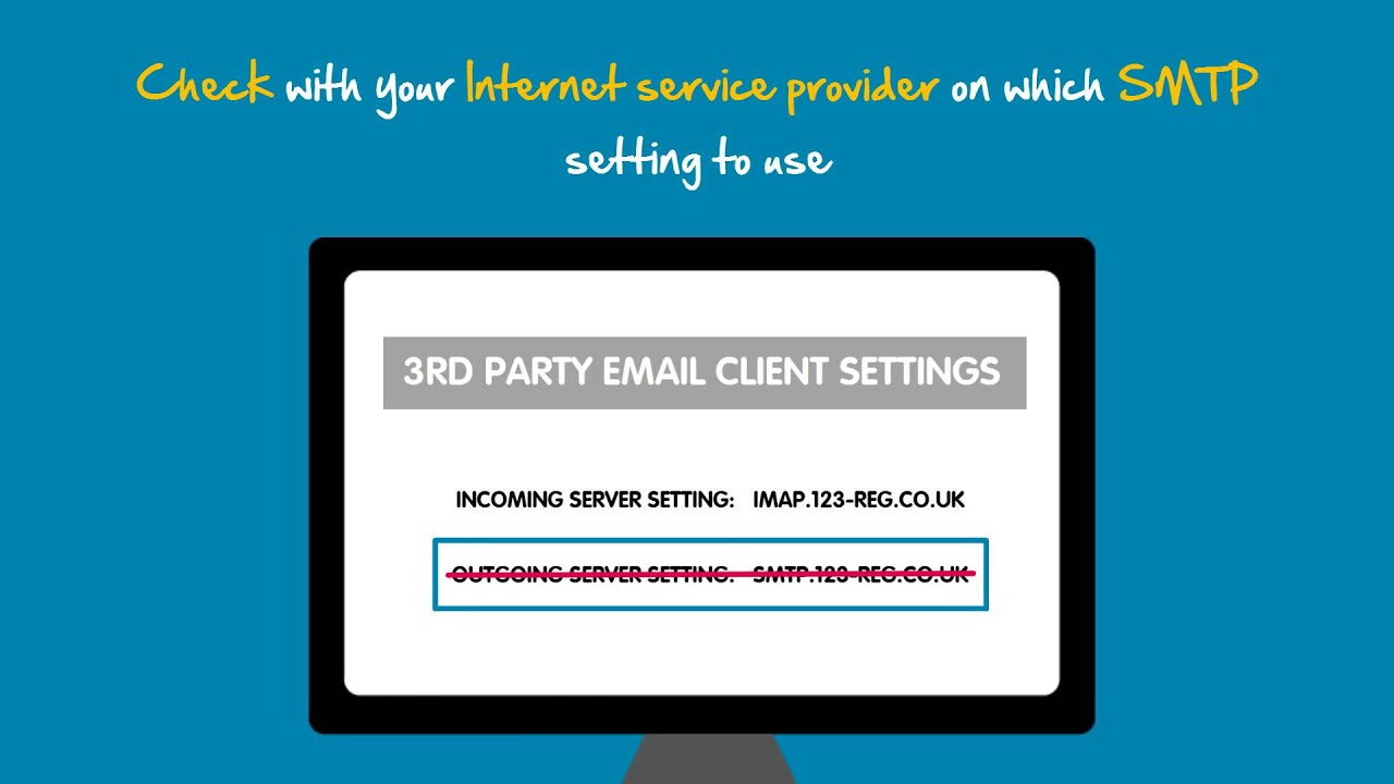 Is your internet service provider blocking your SMTP settings? | 123-reg