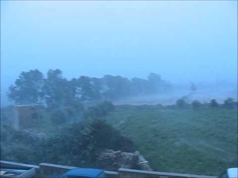 Malta Mosta bad weather 7th Nov 2014 HD