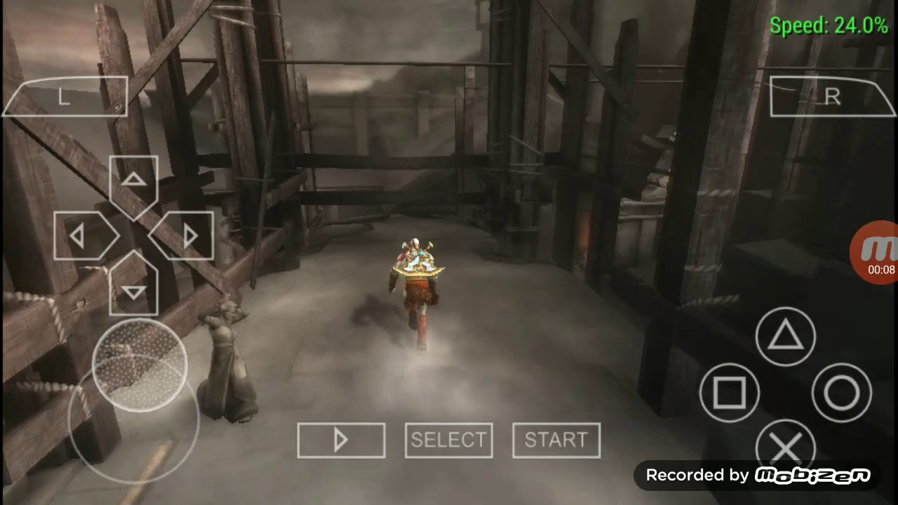 Rope jump @ God of war ghost of sparta ppsspp
