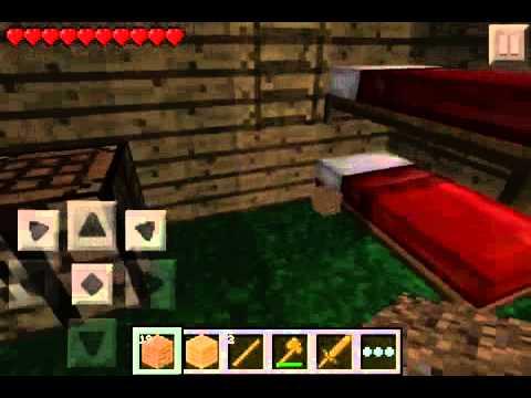 Come Costruire un Letto a Castello - Minecraft PE - YouTube