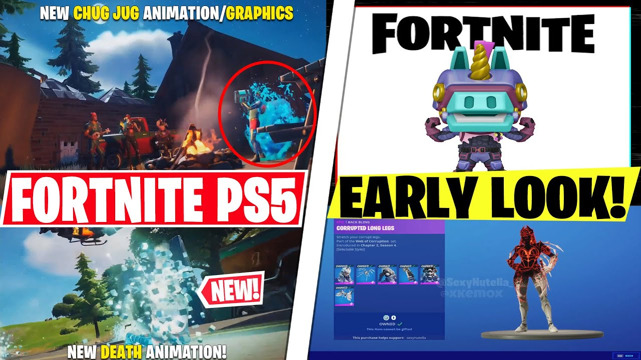 NEW Fortnite PS5 Trailer! *GRAPHICS, Clouds, Chug Jug, New Animations* Battle Lab Update, RTX TODAY!