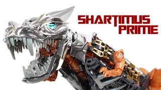 Transformers 4 Age of Extinction Grimlock Leader Class Movie Action Figure Review