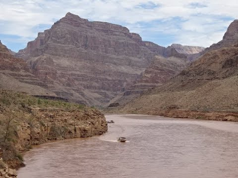 Colorado River Pontoon Boat Ride, Grand Canyon National Park, USA