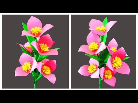 How to Make Simple and Beautiful Paper Flowers for Vase | Very Easy DIY Crafts