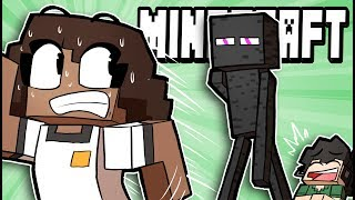 Pranking my girlfriend with an Enderman! - Minecraft Funny Moments