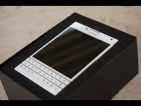 White BlackBerry Passport Unboxing