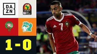 Hakim Ziyech und Co. lösen Achtelfinal-Ticket: Marokko - Elfenbeinküste 1:0 | Afrika-Cup | DAZN