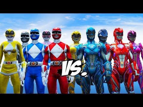 Mighty Morphin Power Rangers VS Power Rangers 2017
