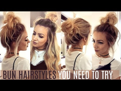 6 QUICK & EASY BUN HAIRSTYLES YOU NEED TO TRY