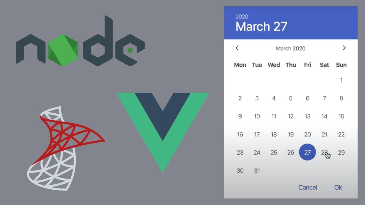 Build an Event Calendar App Using NodeJS, VueJS, and SQL Server (Step by Step Tutorial)