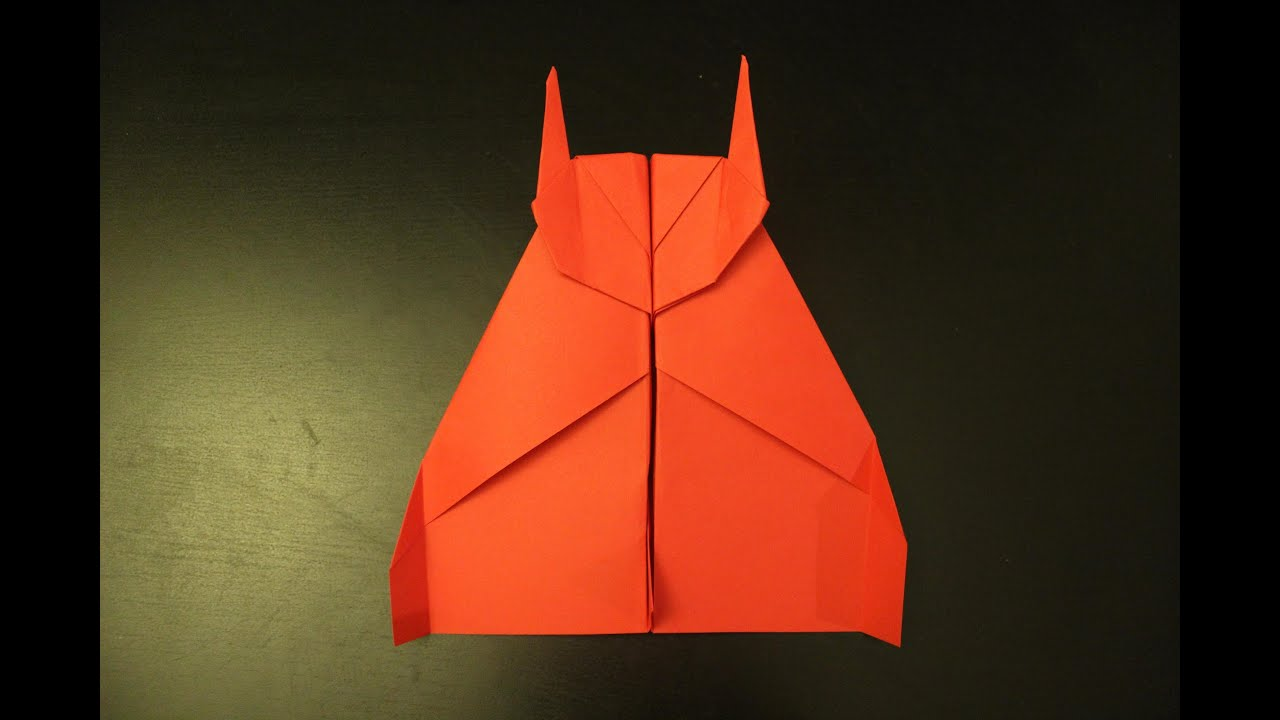 How to make a flying batman plane: origami instruction ... - photo#38