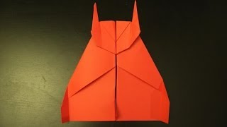 How To Make A Flying Batman Plane: Origami Instruction