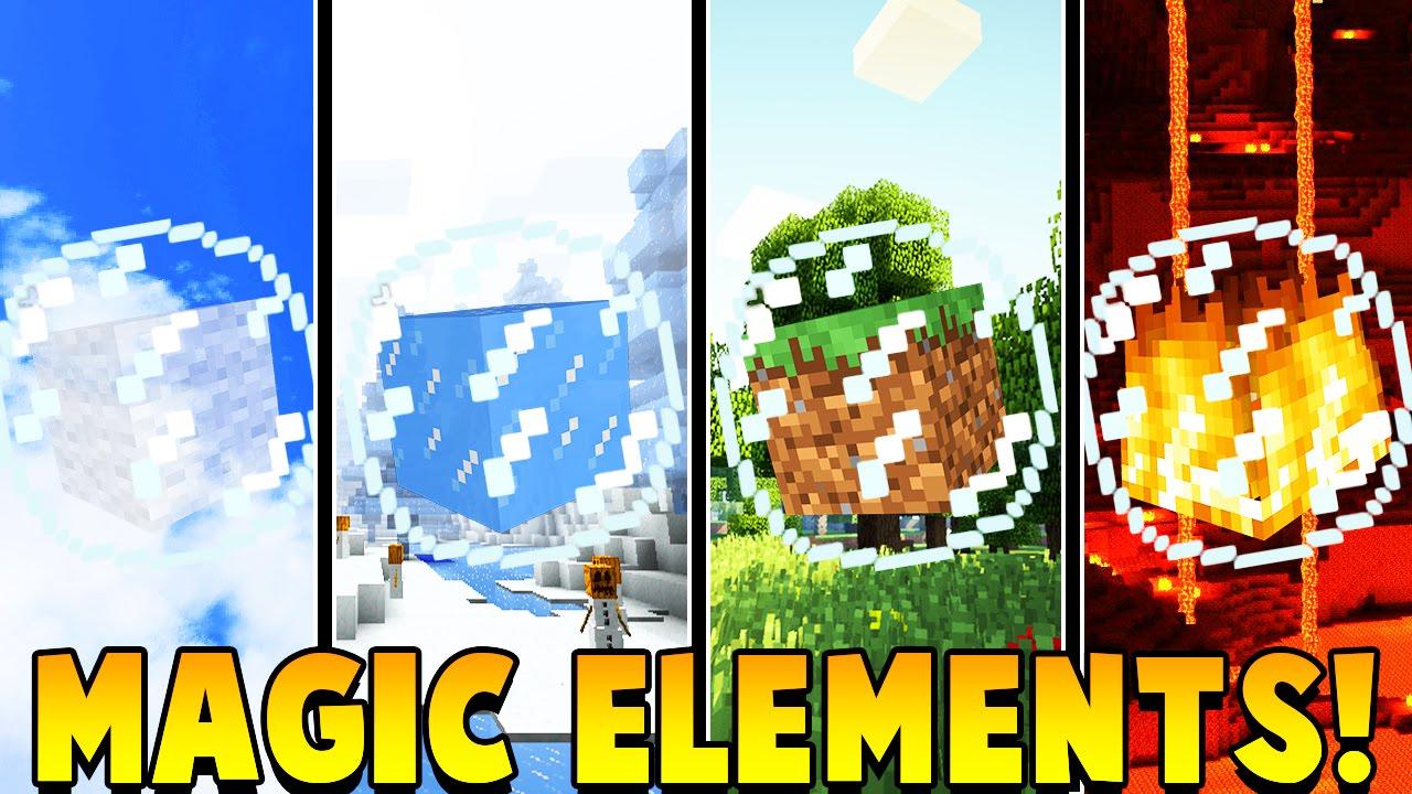 MAGIC ELEMENTS MOD Battle Parkour Minecraft Mod Battle