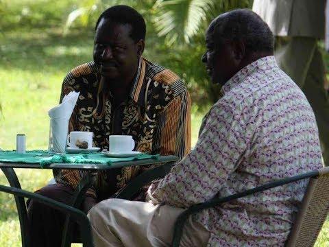 Developing Story: Raila Odinga meeting former President Mwai Kibaki at his Muthaiga Home