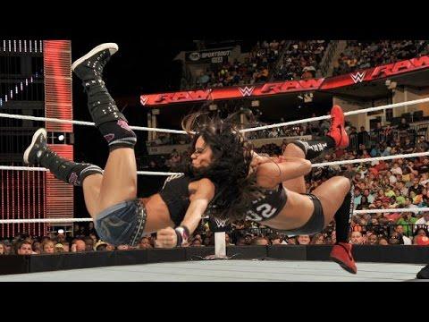 WWE RAW 09.22.14 AJ Lee vs. Nikki Bella (720p)
