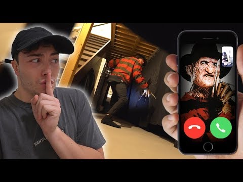 I Called FREDDY KREUGER From Nightmare On Elm Street On FACETIME At 3 AM! *WE PLAYED HIDE AND SEEK*