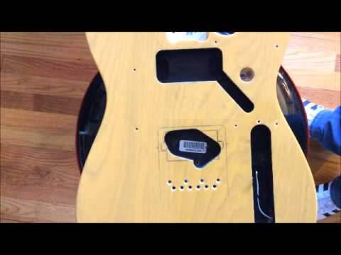 Fender Telecaster modified for humbucker in bridge position-Part 1