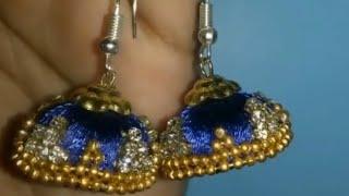 Silk thread earrings. New model silk thread jewellery jumka ....