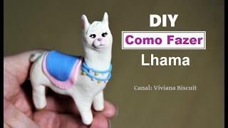 DIY de LHAMA - a lhama mais fácil do mundo de fazer! Love lhama Biscuit / Porcelana Fria / Fimo/