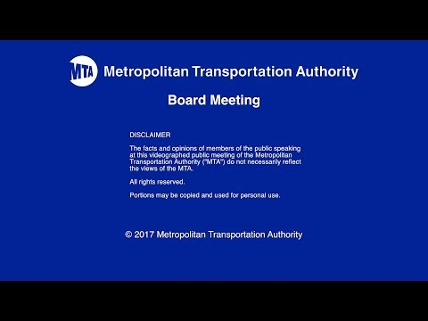 MTA Board - NYCT/Bus Committee Meeting - 11/13/2017