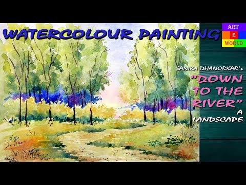 Watercolour Landscape-11 | Tutorial Lessons Video | beginners |  techniques