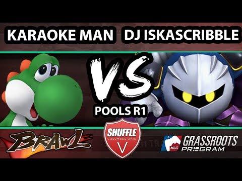 Shuffle V - DJ Iskascribble (Meta Knight) Vs. Karaoke Man (Yoshi) - Pools - SSBB