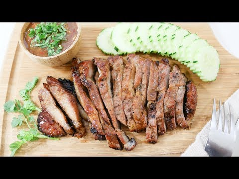 Thai BBQ Pork (Ko Moo Yang) คอหมูย่าง – Episode 192