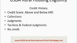 USDA Direct Loan - Rural Housing