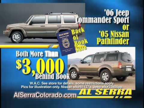 Al Serra Colorado Springs >> Al Serra Chevrolet Volkswagen Used Colorado Springs Back Of Book Sale