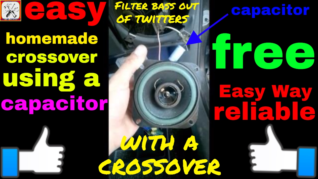 how to install a capacitor as a crossover youtube Starter Capacitor Wiring how to install a capacitor as a crossover