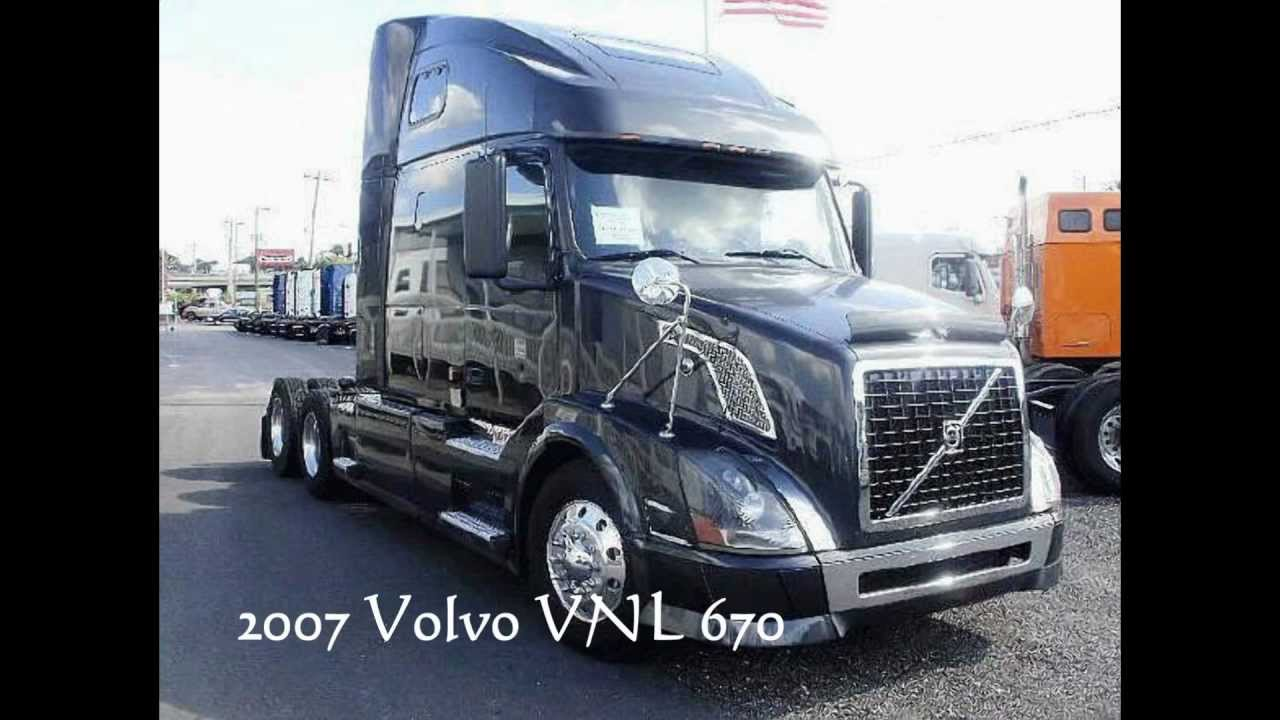volvo trucks for sale 2007 vnl 670 465hp florida truck youtube. Black Bedroom Furniture Sets. Home Design Ideas