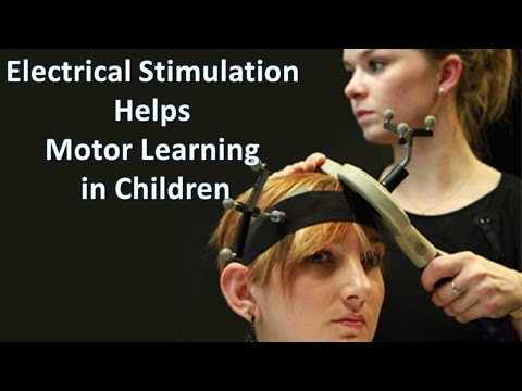 Electrical Stimulation helps motor learning in healthy children