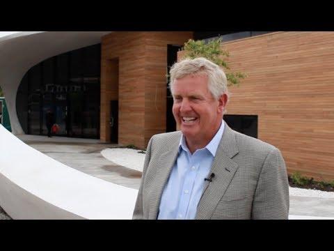 Colin Montgomerie introduces Maggie's Centre, Aberdeen
