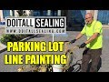 Parking Lot Line Painting With Handicap Stencil mp3
