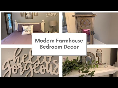 MODERN FARMHOUSE DECOR IDEAS | BEDROOM DECORATE WITH ME ON A BUDGET | Decorate With Dana