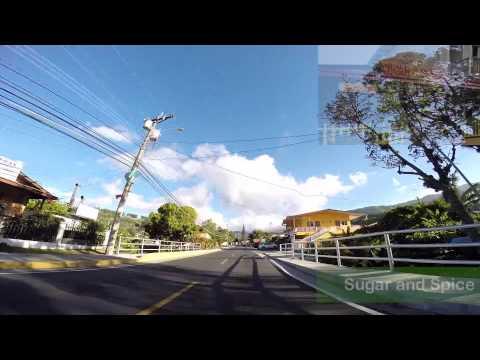 A drive trough Boquete Mountain Town in Panama (HD)