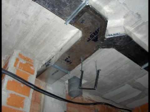 Instalación de conductos de aire acondicionado - YouTube