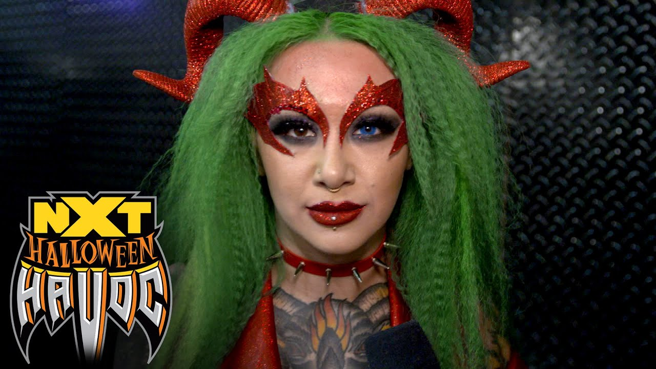 Shotzi celebrates an unforgettable NXT Halloween Havoc: WWE Network Exclusive, Oct. 28, 2020